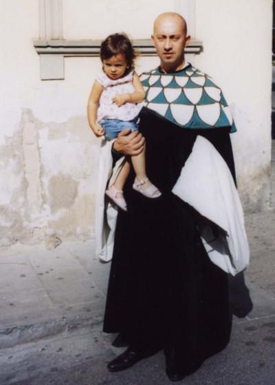Maurizio Carboni in San Giusto con la figlia Giulia-Andrea.