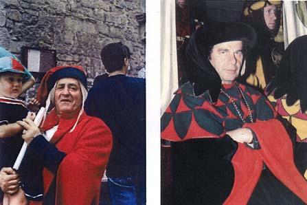 """Antonio Morelli """"Tonino"""", Rettore, Capitano, Deus ex machina di Porta Crucifera (Foto sett. 2000)  Aldo Brunetti, Rettore plurivittorioso di Porta Crucifera (Foto sett. 2000)  (Arti Grafiche Cianferoni G.P. - Stia; C. Fardelli – AR)"""